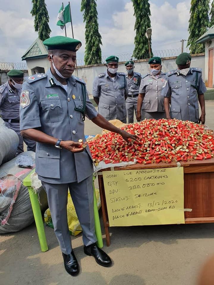 Customs intercepts 5,200 live ammunitions, contraband goods worth N386m