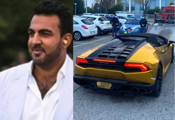 British multi-millionaire arrested after ?driving his Lamborghini Huracan from London to Italy to threaten his ex-girlfriend?