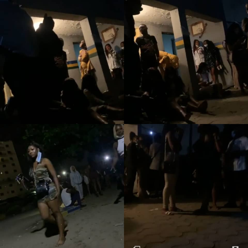 Lagos state police command raid Colombia club in Victoria Island, arrest club managers and customers (photos/Videos)