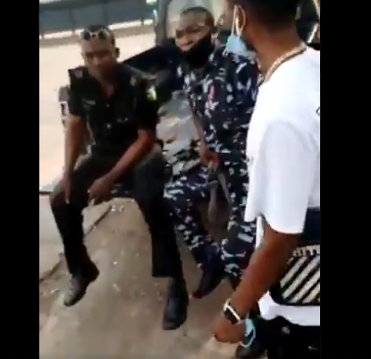 Young Nigerian man calls out policemen who allegedly harassed and tried arresting him