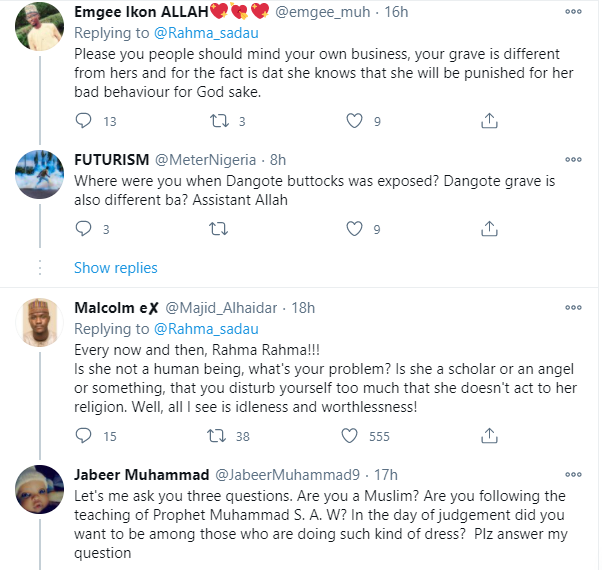 Actress Rahama Sadau called out again by Muslims for
