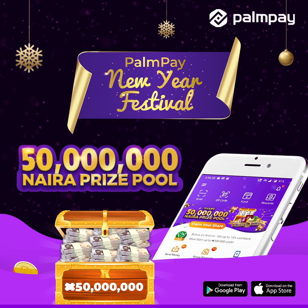 Recharge & win big as PalmPay is rewarding its customers with 50 Million Naira this week lindaikejisblog1