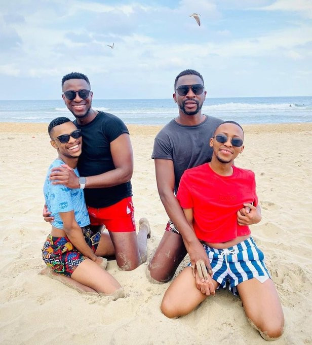 Two South African men flaunt their