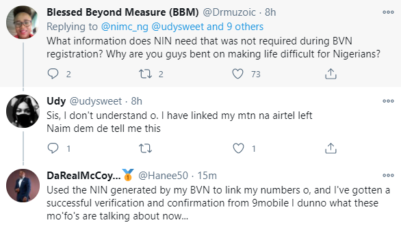 Nigerians react to NIMC