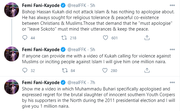 Bishop Kukah did not attack Islam, those that demand that he
