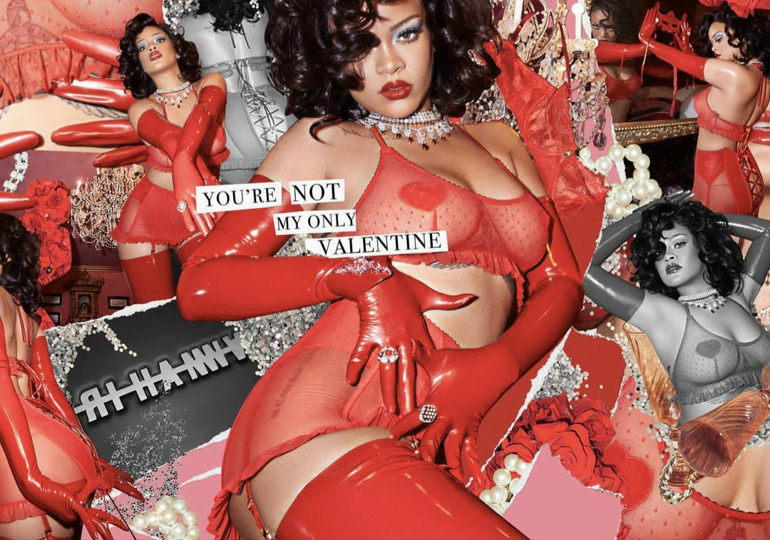Rihanna sends pulses racing as she shows off her curves in red-hot lingerie for Savage x Fenty