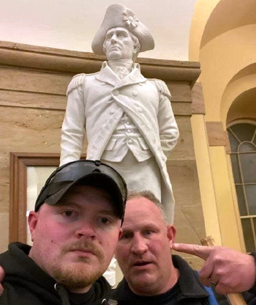 Two off-Duty Virginia Police officers arrested and charged for their roles in the U.S. Capitol riot