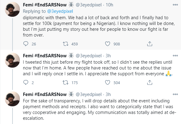Netherland-based Nigerian IT expert accuses Nigerian police of extorting N100k from him