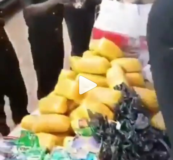 Police discover tons of hard drugs and money after raiding a hotel in Ogun state (video)