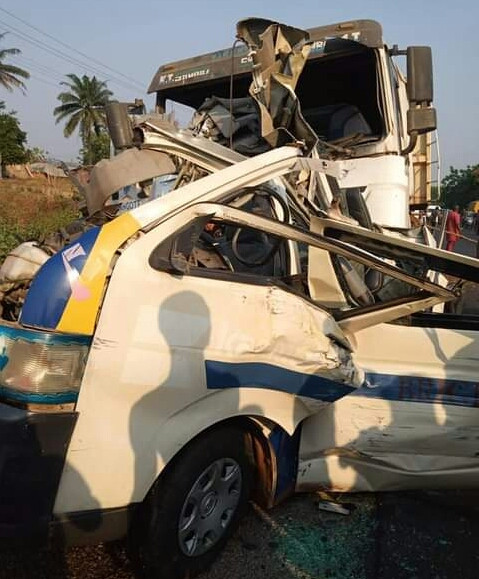 5 children, nine others killed as truck rams into passenger bus in Kogi