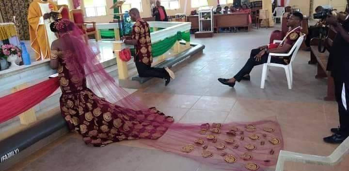 Nigerian couple weds in Isiagu
