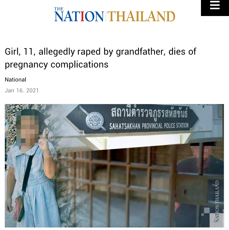 11-year-old girl allegedly raped by her grandfather, dies of pregnancy complications