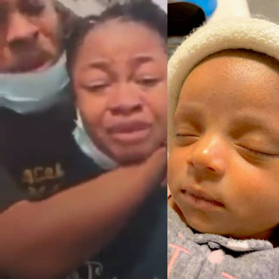 Nigerian couple cries out for justice after one of their twin daughters died due to alleged negligence at a General Hospital in Lagos  (videos)