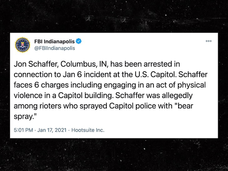 Iced Earth founder, Jon Schaffer arrested over Capitol riot and for allegedly using bear spray on cops
