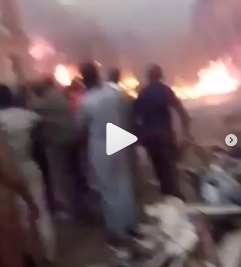 Sokoto Central Market gutted by fire (videos)