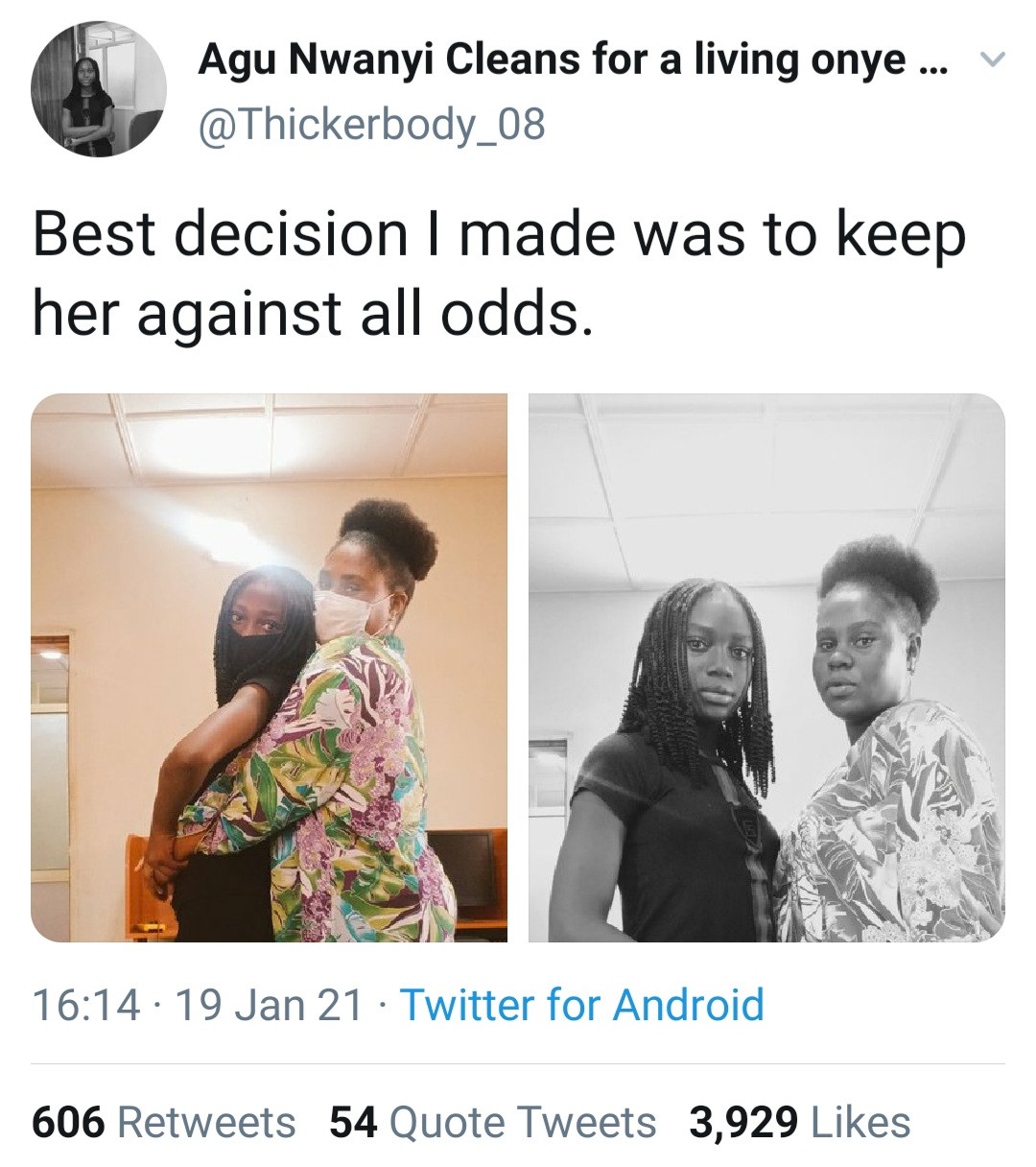 """""""Best decision I made"""" - Single mother is grateful she kept her daughter who can now pass for her sister"""