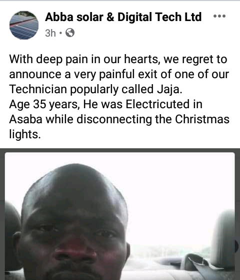 35-year-old man electrocuted while dismantling Christmas light decorations in Delta