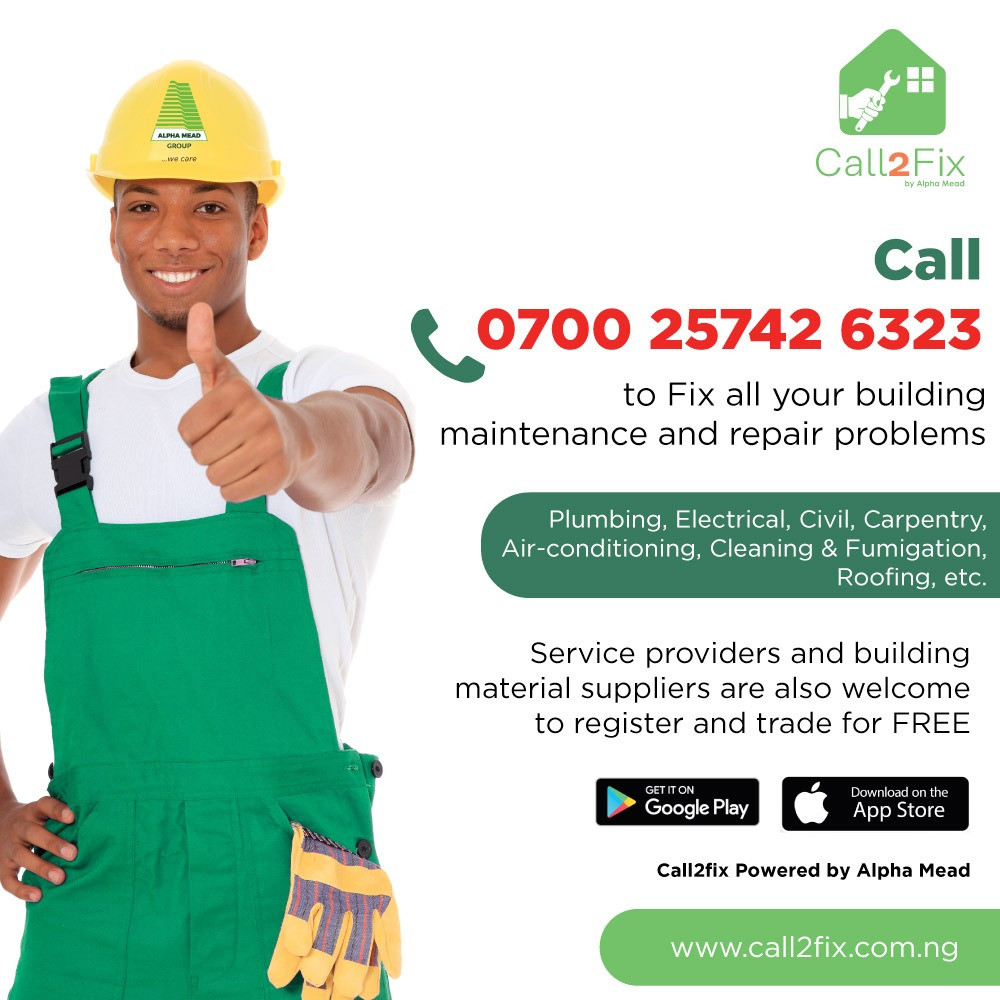 Need Building Repairs? Access over 1,000 Professional Artisans on the Call2Fix App