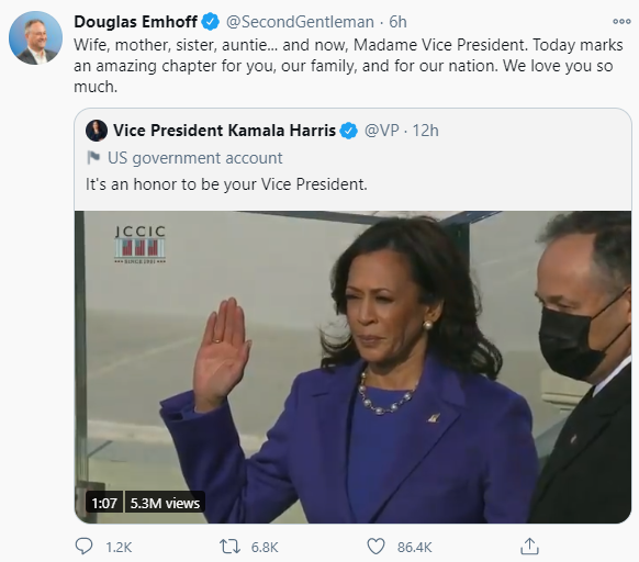 """We love you so much"" Kamala Harris"