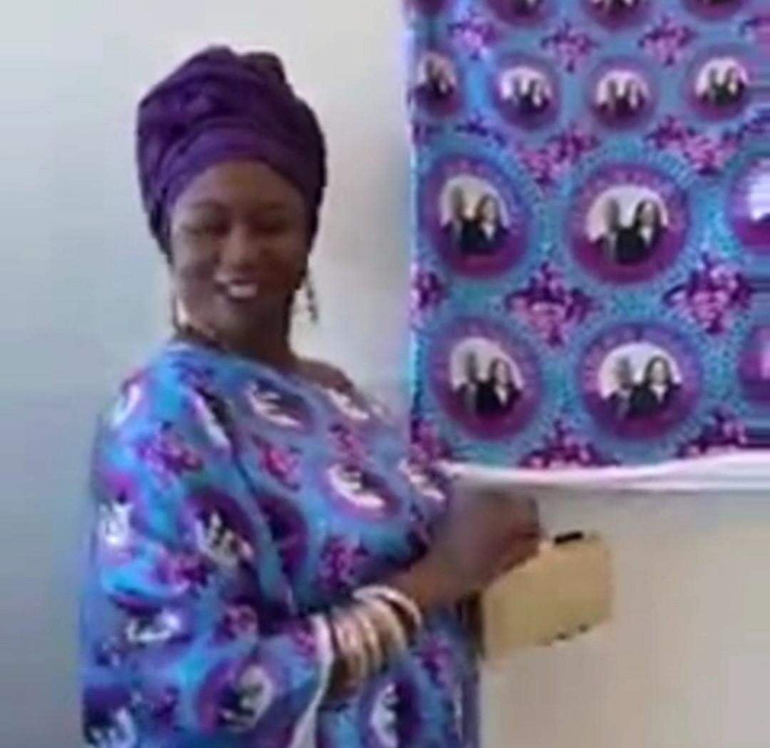 Nigerian lady rocks Joe Biden and Kamala Harris
