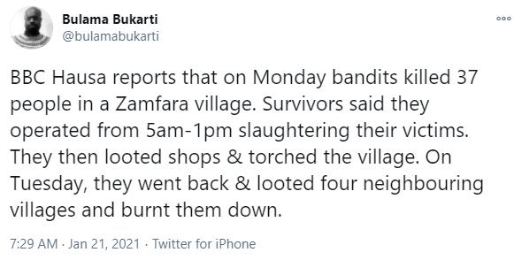 Bandits allegedly kill 37 persons in Zamfara