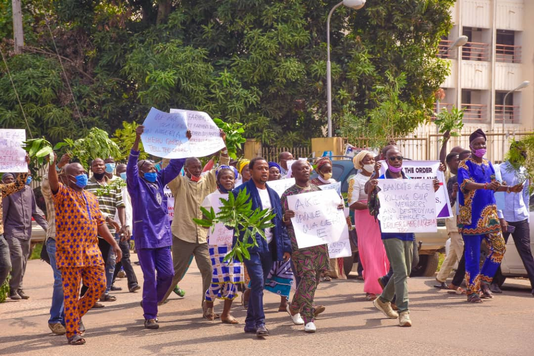 Farmers and forest guards in Ondo stage protest in support of Gov Akeredolu
