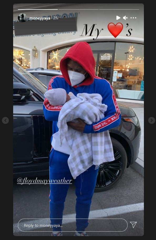 Floyd Mayweather pictured with his grandson for the first time after his daughter Yaya gave birth to rapper NBA Youngboy