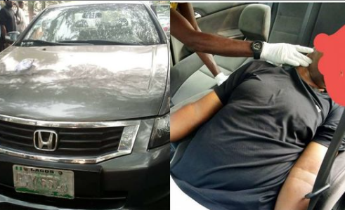 Man found dead in his car in Lagos (photos)