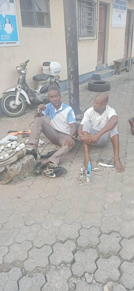 Two men hired for hostel renovation in Unical arrested after stealing students