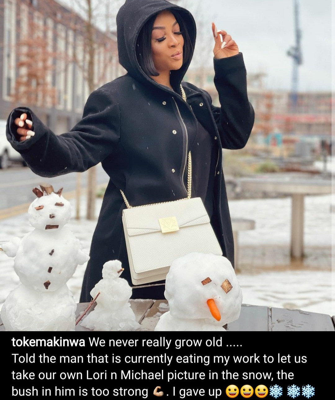 Toke Makinwa responds to troll who said her current man is only with her for the sexual benefits