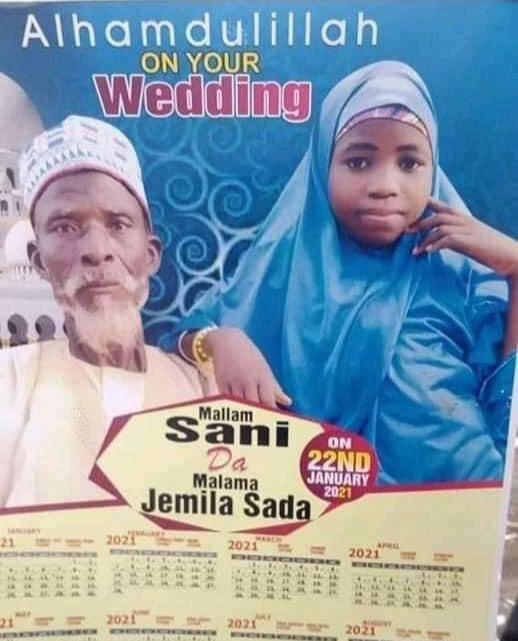 Outrage as elderly grandfather weds young girl