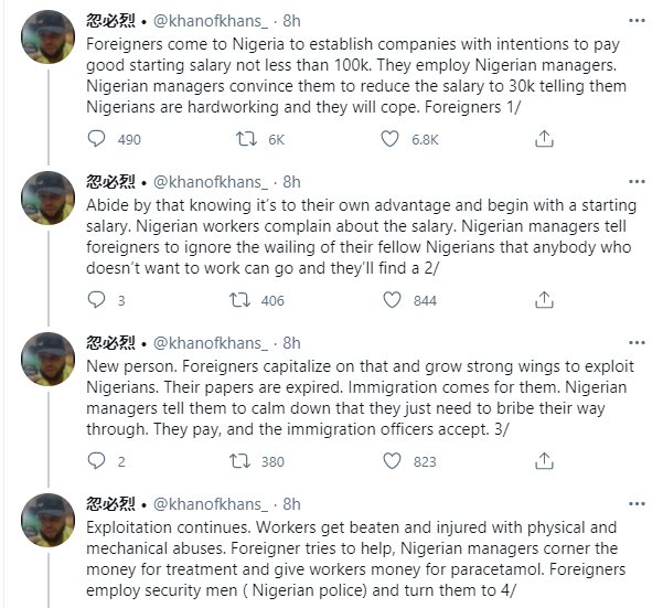 Man narrates how Nigerians connive with foreigners to enslave other Nigerians