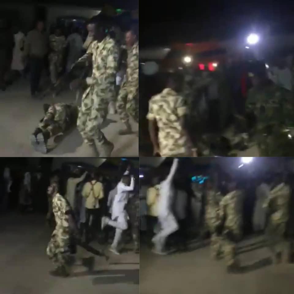 Soldiers rejoice over Buratai