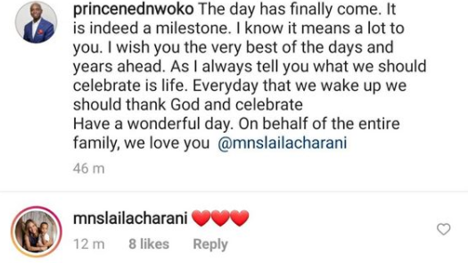 I wish you the very best- Ned Nwoko tells his Moroccan wife, Laila, as she turns 30