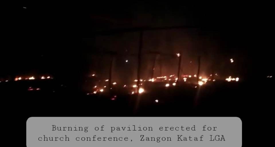 Hoodlums burn down church pavilion in Southern Kaduna (photos)