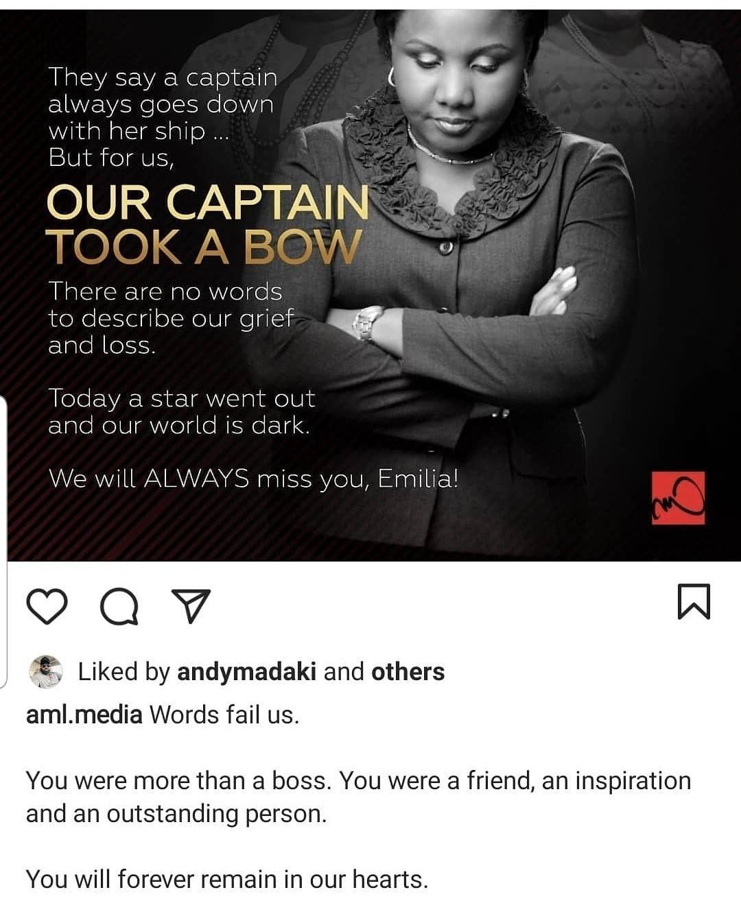 Former Future Awards Co-founder, Emilia Asim is dead