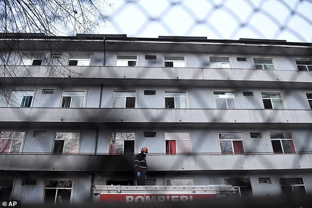 Five Covid-19 patients are killed in hospital blaze two months after ten died in another hospital fire in Romania (photos)