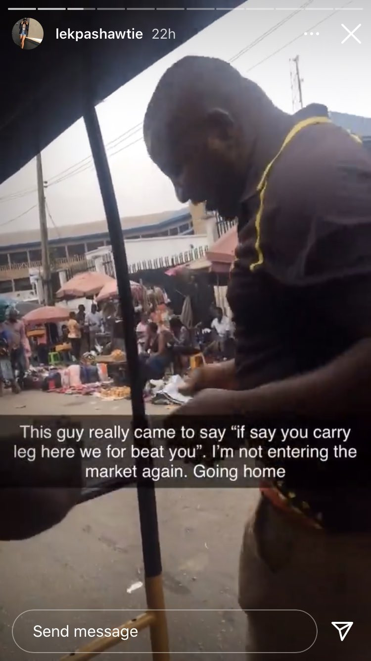 Nigerian lady narrates how she confronted some men who sexually harassed her for wearing a bum short while passing through a market (video)