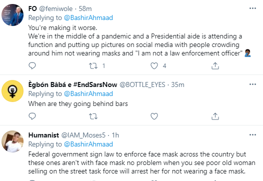 """""""I am not a law enforcement officer """"- Bashir Ahmad says after he was called out for attending a wedding where most of the guests weren"""