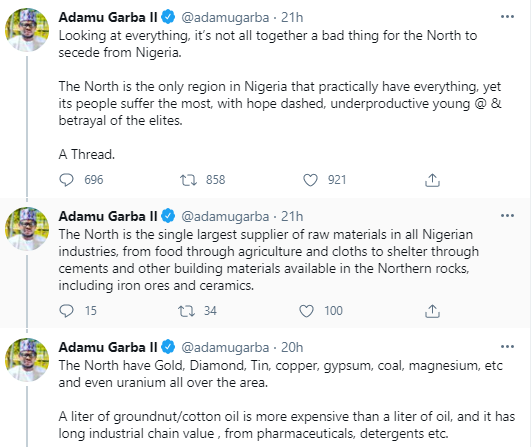 It?s not altogether a bad thing for the North to secede from Nigeria - Ex-presidential aspirant, Adamu Garba