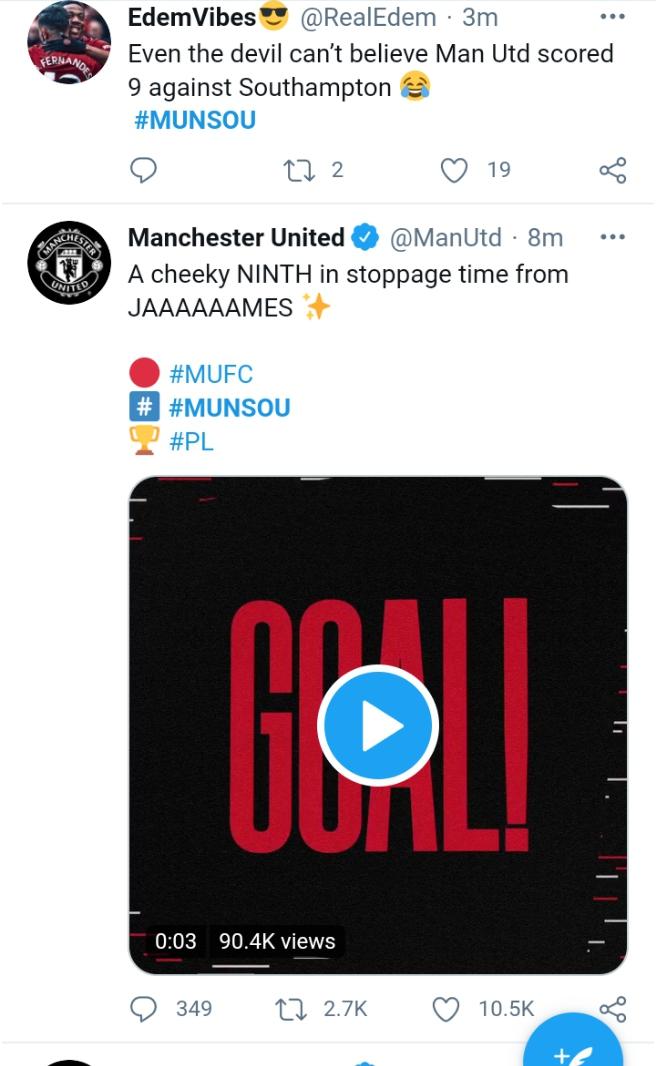 Manchester United beat Southampton 9-0