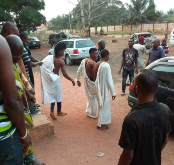 Three young men allegedly caught attempting to use a girl for money ritual in Edo