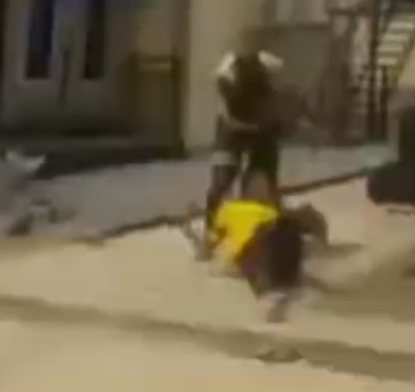 Abuja businessman caught on camera beating a cleaner after she allegedly asked for half of her pay  (video)
