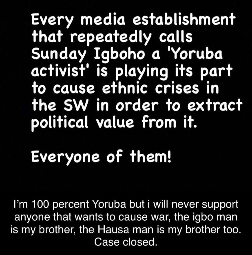 Herdsmen crisis: Singer Kwam1?s daughter blasts Nigerians donating money to Sunday Igboho