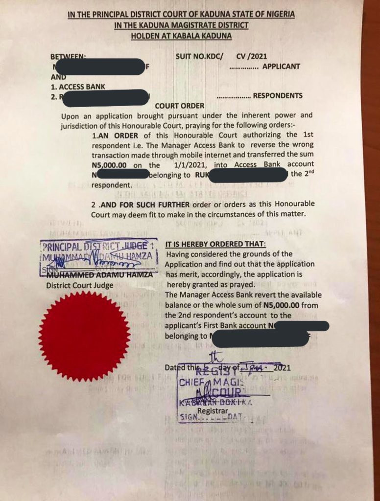 Man drags lady to court