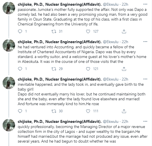 Lawyer shares chilling story of how a Nigerian man found out his daughter was not his