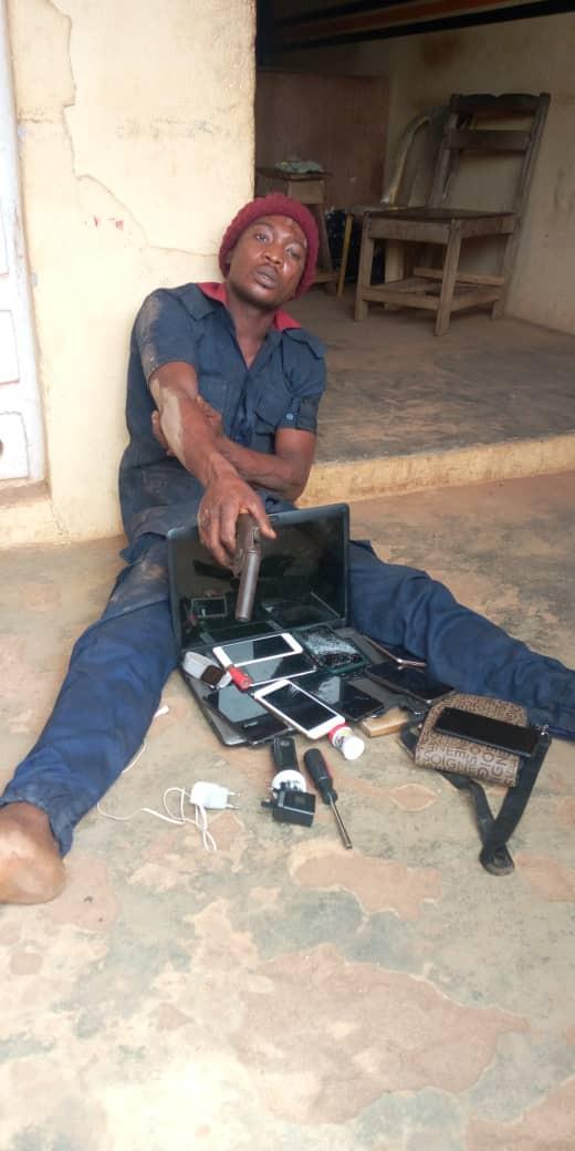 Robber operating in civil defense uniform apprehended in Ogun (photo)