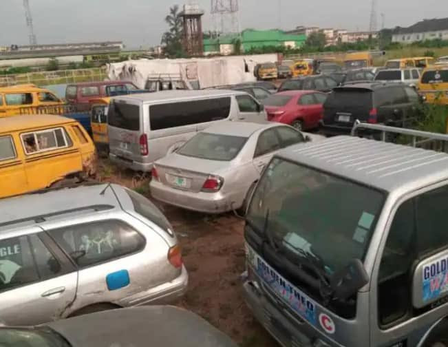 Lagos state government auctions 83 vehicles impounded from traffic offenders (photos)