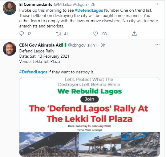 #DefendLagos trends as youths plan counter-protest at Lekki tollgate