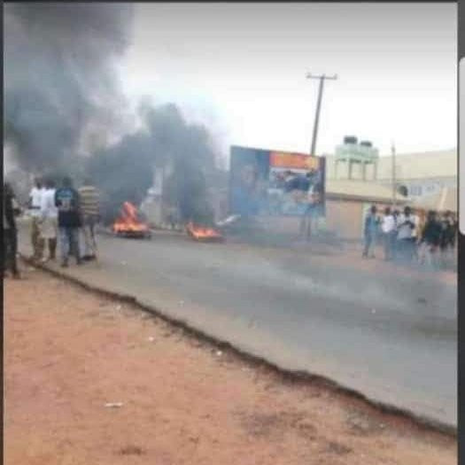 Suspected Yahoo Boys stage protest in Osun (photos)